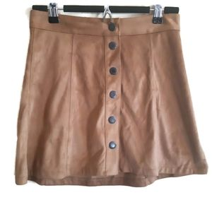 American Eagle outfitters | brown suede feel skirt